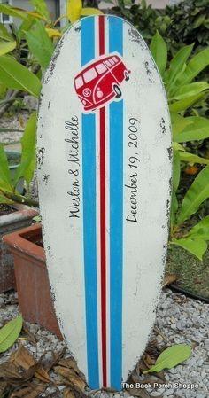Beach Wedding Guest Book Tropical SURFBOARD by thebackporchshoppe, $89.95