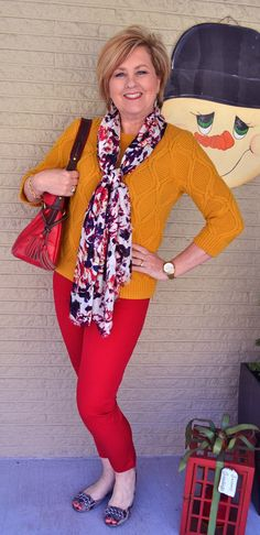 50 Is Not Old| Red and Yellow | Fashion over 40 for the everyday woman