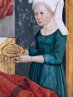detail from the Birth of Mary, 1490-1510, Ansbach, Germany (Schwanenritteraltar, St. Gumbertus)