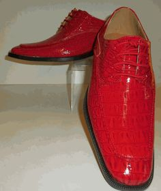 Mens Cool Shiny Bright Red Croco Embossed Dress Shoes Roberto Chillini 6548 Men Dress, Dress Shoes, Front Row, Oxford Shoes, Lace Up, Louis Vuitton, Brand New, Bright, Sneakers