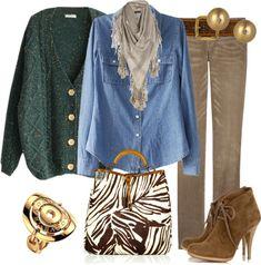 Outfits de Moda ...Me Tomo Cinco Minutos: Cardigan