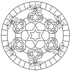 coloring page Mandala Christmas on Kids-n-Fun. Coloring pages of Mandala Christmas on Kids-n-Fun. More than coloring pages. At Kids-n-Fun you will always find the nicest coloring pages first! Mandalas Drawing, Mandala Coloring Pages, Coloring Book Pages, Zentangles, Christmas Colors, Christmas Crafts, Christmas Time, Christmas Ornaments, Tibetan Mandala