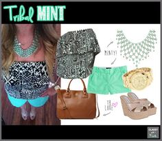 Mixing Tribal Patterns with Mint