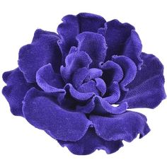 Pre-owned Rare, Fabulous Chanel Velvet Flower Brooch (£460) ❤ liked on Polyvore featuring jewelry, brooches, flowers, accessories, corsages, blue flower brooch, velvet jewelry, flower pin brooch, flower brooch and chanel jewellery