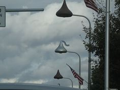 Hershey Pennsylvania - lights look like kisses