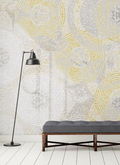 Contemporary Wallpaper with a pop design and refined colours. Contemporary Wallpaper, Pop Design, Tapestry, Colours, House, Wallpapers, Inspiration, Furniture, Home Decor