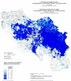 Serbs in Yugoslavia in 1981 . Cartography, Geography, History, Image, Maps, Cards, Historia