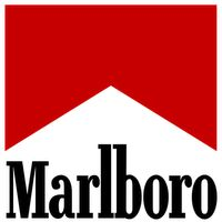 Did you know that initially Marlboro was promoted as a product for women? Read more interesting facts about the Marlboro logo and its history in this article. Marlboro Logo, Marlboro Red, Marlboro Cowboy, Illuminati Symbols, Popular Logos, Marlboro Cigarette, Famous Logos, Vintage Metal Signs, Logo Branding