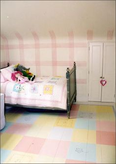 New England style painted floor