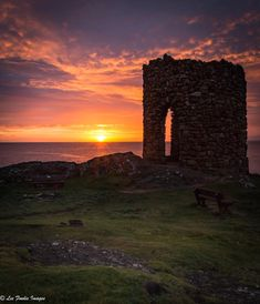 Sunrise at Lady's Tower in Elie, Fife, Scotland