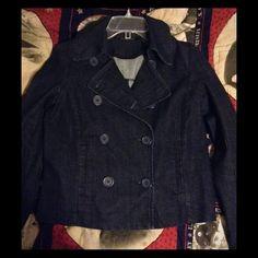 """Selling this """"Denim Peacoat Style Jacket"""" in my Poshmark closet! My username is: melissanbravo. #shopmycloset #poshmark #fashion #shopping #style #forsale #Ny & Co #Jackets & Blazers"""