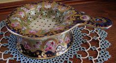 Antique Porcelain Tea Strainer Hand Painted Violets WOW | eBay Tea Strainer, Vintage Table, Violets, Teas, Tea Time, Pond, Porcelain, Hand Painted, Antiques