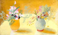 Honeysuckle and Sweetpeas,  Winifred Nicholson