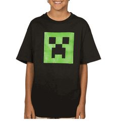 Gotta have Minecraft Glow in the Dark Creeper Youth T-shirt.  ComputerGear.com has lots of Minecraft gifts!