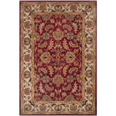 Safavieh Heritage Red/Ivory 6 ft. x 9 ft. Area Rug-HG628D-6 - The Home Depot