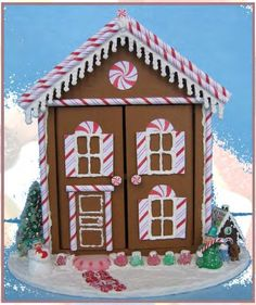 how to: 1/48th scale gingerbread house by Pamela Junk (AIM #39, page 54)