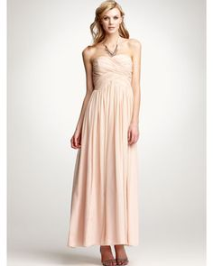 Just a touch of pink perks up this Ann Taylor strapless dress