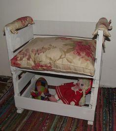 sitial niños caja de frutas reciclado  Diseño Pilar Acuña R