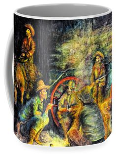 This beautiful work of art is great for that Late Dinner beverage for your cowboy.  15 oz. ceramic.