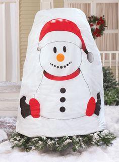 Festive Snowman Bush Cover