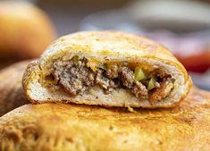 Cheeseburgers Hand Pies Air Fry Recipes, Air Fryer Recipes Easy, Beef Recipes, Pita Recipes, Hamburger Seasoning Recipe, Specialty Sandwiches, Best Sandwich Recipes, Cinnamon Roll Dough