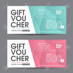 Gift voucher template with colorful pattern,cute gift voucher certificate coupon design template, Collection gift certificate business card banner calling card poster,Vector illustration 스톡 콘텐츠 - 45286035 Banner Design, Flyer Design, Gift Voucher Design, Staff Motivation, Gift Logo, Company Gifts, Customer Appreciation, Coupon Design, Gift Vouchers