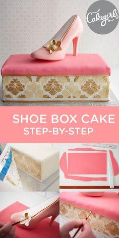Shoe Box Cake Step-by-Step Tutorial