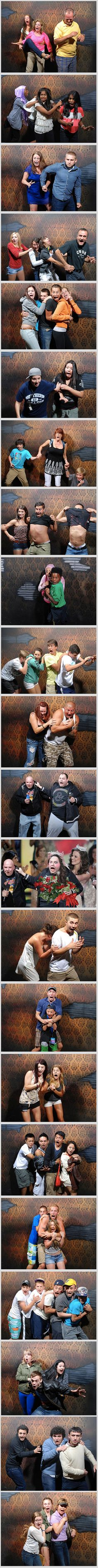 The Haunted House in Niagara Falls, Canada, prides itself of its world famous Nightmares Fear Factory attraction – and they sure got the pictures to support it. The funny pictures are shot by strategically placed secret cameras which capture the visitors at their most vulnerable stage. Now that's just doomed to be good!