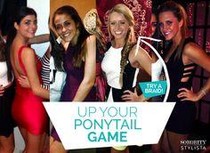 Up your pony tail game! #theta #pennstate #ponytail #hair #sororitystylista