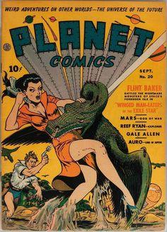 Planet Comics – Page 4 – Pulp Covers Sci Fi Comics, Old Comics, Horror Comics, Vintage Comics, Vintage Posters, Science Fiction Magazines, Science Fiction Art, Pulp Fiction, Comic Book Covers