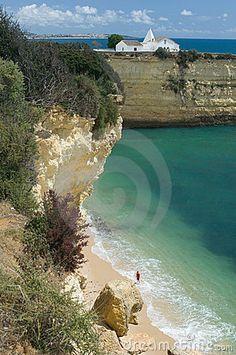 Chapell Senhora da Rocha bei Armacao de Pera, Algarve, #Portugal