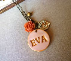 So cute! name necklace