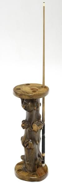 Rustic Free Standing Pool Cue Stick Holder Item #PG01207 Four Holes - $489 Six Holes - $529 Eight Holes - $549