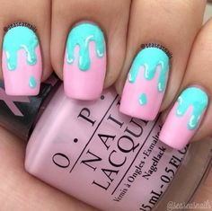 On average, the finger nails grow from 3 to millimeters per month. If it is difficult to change their growth rate, however, it is possible to cheat on their appearance and length through false nails. Cute Nail Art, Cute Nails, My Nails, Kawaii Nail Art, Little Girl Nails, Girls Nails, Summer Acrylic Nails, Best Acrylic Nails, Summer Nails