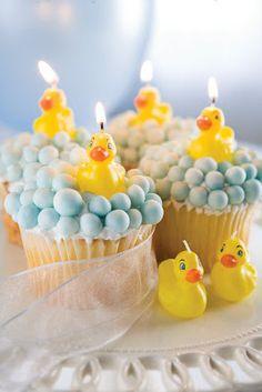 rubber ducky cupcakes.
