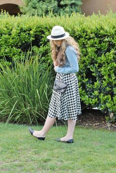 gingham print two ways