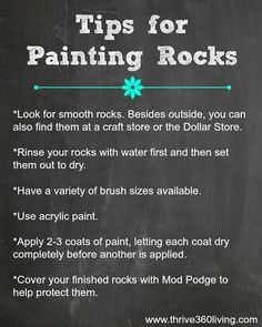 Thrive 360 Living: The Very Hungry Caterpillar Painted Rocks -- great tips for painting rocks (shared along with a really cool project! Pebble Painting, Pebble Art, Painting Tips, Stone Painting, Dot Painting, Decoration St Valentin, Arts And Crafts, Diy Crafts, Pet Rocks