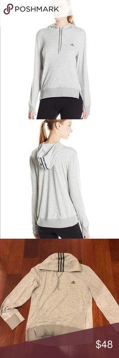 BNWT 2love Adidas hoodie BNWT GRAY Adidas hoodie 2love  Retails $50 adidas Sweaters