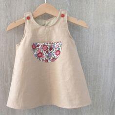 robe trapèze * intemporels pour bébé * Au fil de la Lune * blog couture