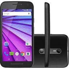 """Smartphone Motorola Moto G (3ª Geração) Dual Chip Android Tela 5"""" 8GB Preto + Cartão de Memória 8GB"""