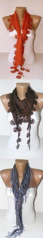 NEW fashion scarvesnew scarf trendsWhite scarfCowl by scarvesCHIC, $15.90