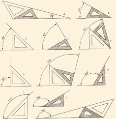 56 ideas drawing architecture technical for 2019 Mathematics Geometry, Geometry Art, Sacred Geometry, Geometric Drawing, Geometric Shapes, Geometric Tools, Math Art, Architecture Drawings, Drawing Techniques