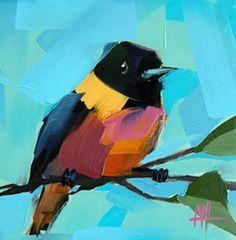 Яркие птички в живописных работах Angela Moulton - Ярмарка Мастеров - ручная работа, handmade
