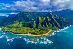 Napali Coast, Hawaii. Can't wait to see this place!! Such beauty and evidence of the Great Flood. God left us so much proof!