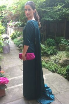Livia in a Henrietta Ludgate gown heading to the Obama's dinner
