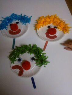 Clown petit assiette