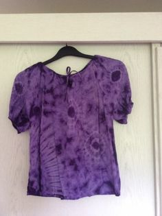 ladies purple tie dye hippy gypsy top. approx size 14 | eBay