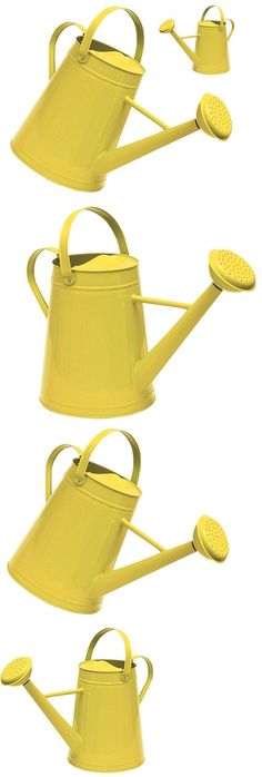 Watering Cans 20547: Watering Can 2 Gallon Galvanized Yellow Traditional Indoor Outdoor Garden Tool -> BUY IT NOW ONLY: $45.82 on eBay!