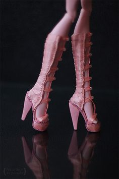 """Shoes for outfit """"Pink happens"""" for Monster High 