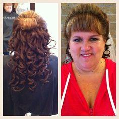 Bride curls Curls, Dreadlocks, Hairstyles, Bride, Beauty, Roller Curls, Haircuts, Wedding Bride, Beleza